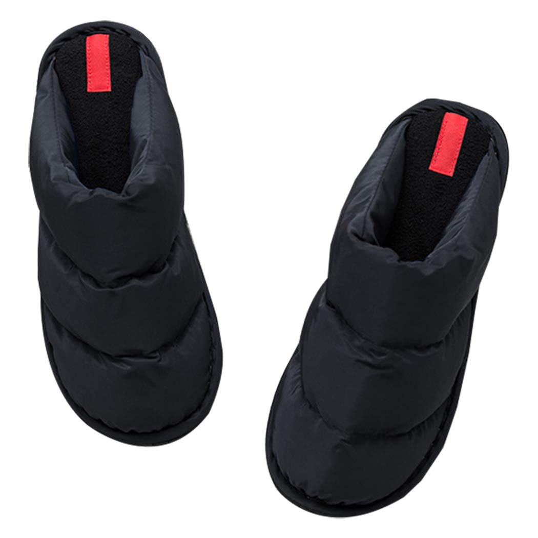 MMSHOO Womens Mens Soft Non-Slip Indoor Thermal Warm Down Slippers Shoes