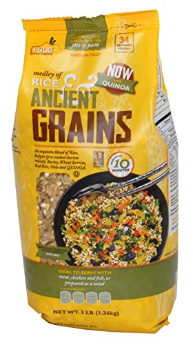Medley of Rice & Ancient Grains 3lbs (Rice, Bulgur, Barley, Wheat Berries, Red Rice, Oats and Quinoa) Cook Time 10 ()