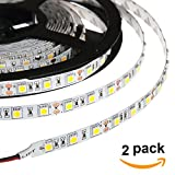 HERO-LED 5M300TAD-24V-DW LED Strip Tape Light, 5M 16.4FT 5400LM 24V DC 72W IP33 LED Tape, Daylight White 5000K, 2-Pack