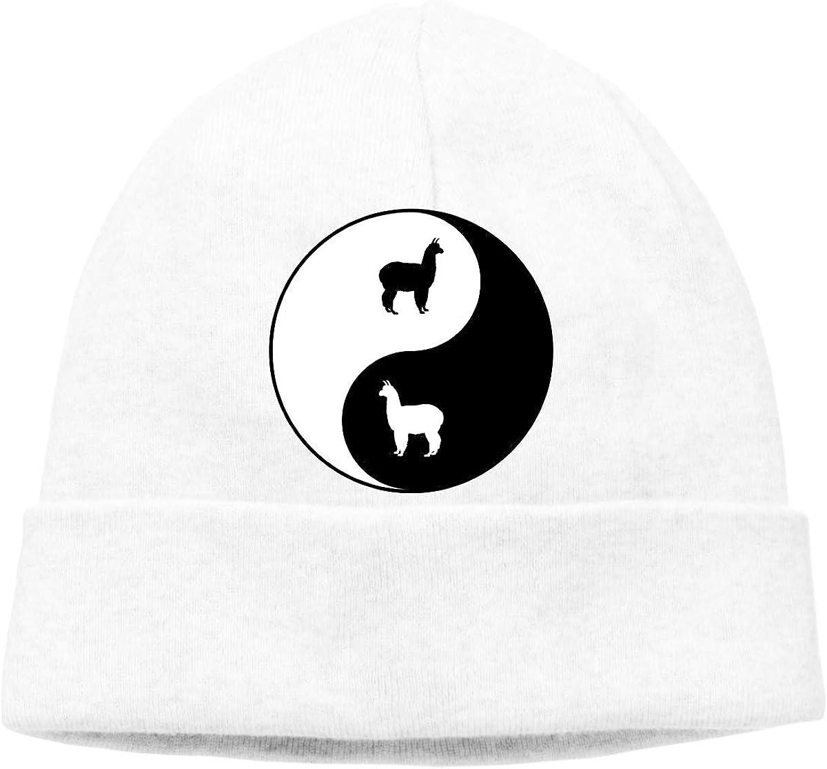Beanie Hat Yin Yang Llama Warm Skull Caps Men Women
