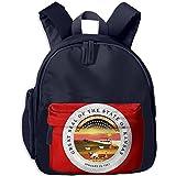 Kansas Flag KS Kid School Bags Shoulder Backpack Bookbag