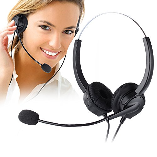 - Telephone Headset, PChero Noise Cancelling Headset with Mic for Call Center, Desk Telephone, Perfect for Phone Sales, Insurance, Hospitals, Telecom Operators - [Binaural]