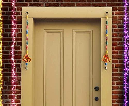 TR-D18-ToranAccessories003 18.5 inch X 2.9 inch TiedRibbons Handcrafted Wall Door Hanging Decorative Diwali Decoration Accessories