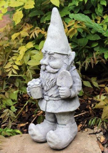 Gro/ßen Garten Gnome Ornament Keramik Stein Effekt 48/cm hoch Outdoor oder Indoor