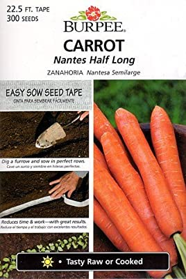 Burpee 69716 Carrot Nantes Half Long Seed Tape