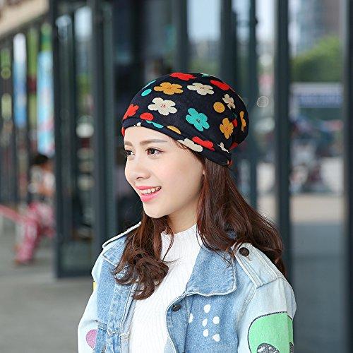 Pyrsun(TM) new 3 way to Wear Women's Hats Girls Cap Flower Kintted Winter Hats for Women Balaklava Female Spring Gorros Women Beanies by Pyrsun