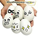 Foam Egg Cartons for Sale Mushimoto Squishes Eggies with Over 30 Emoji Like Emotions Available Great Gift Decoration Games Displays Party Favorite Relieve Stress Collectible (6 Eggs)