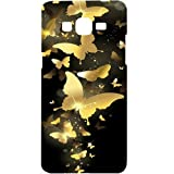 Casotec Golden Butterfly Pattern Design Hard Back Case Cover for Samsung Galaxy Grand Prime G530