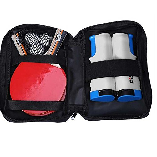 Table Tennis Set Pingpong Combo: 2 Offensive Bats + 3 Balls + Retractable Net + Carry Bag Ready to Go … Umpire Combo Kit