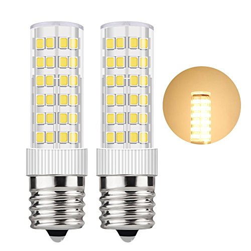 DiCUNO E17 LED Bulb 5 Watt Appliance Bulb Microwave Oven Light 3000K Warm White, 550lm, 50W Halogen Equivalent (2-Pack)