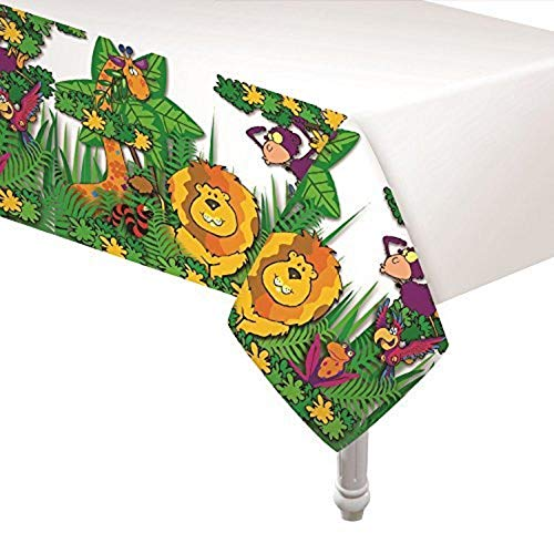 Oojami 4 Pack of Zoo Jungle Animal Plastic Table Covers 54