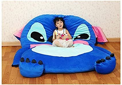 Cute Cartoon Lilou0026Stitch Image Sleeping Bag Sofa Bed Twin Bed Double Bed  Mattress For Kids