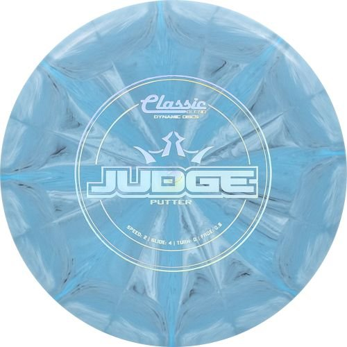 Dynamic Discs Classic Blend Burst Judge Putter Golf Disc [Colors May Vary] - 173-176g