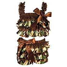 Stephan Baby 760423 Ruffled Flapper Top and Diaper Cover, Camo Print