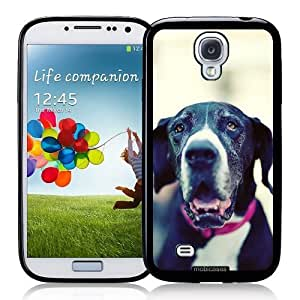Cool Painting Great Dane (Black ; White) Dog - Protective Designer BLACK Case - Fits Samsung Galaxy S4 i9500