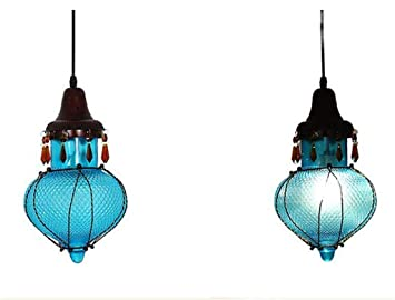 Amazon.com: WHKHY - Lámpara de araña de cristal de colores ...