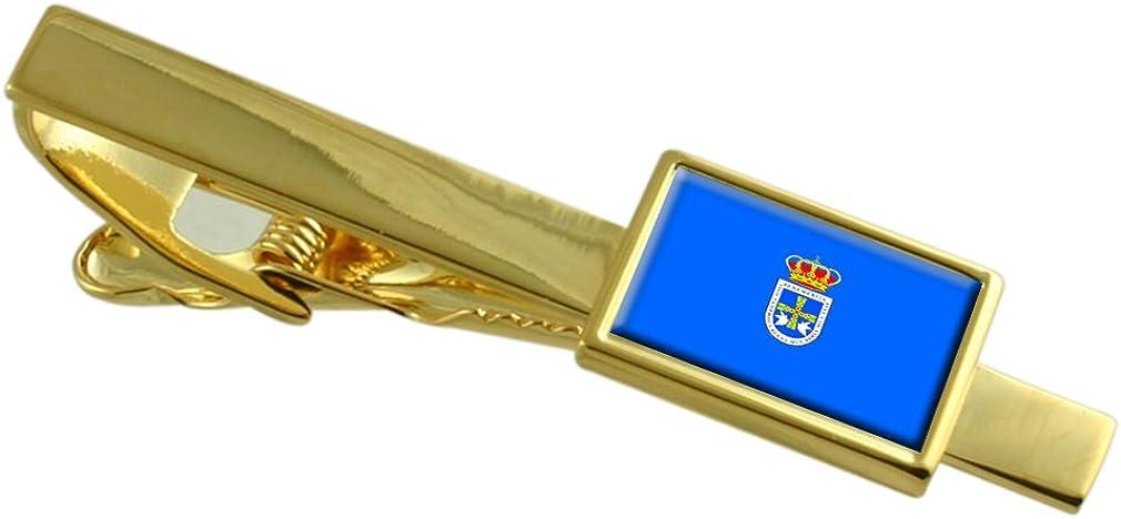 Select Gifts Oviedo Ciudad Bandera España Clip de Corbata de Oro ...