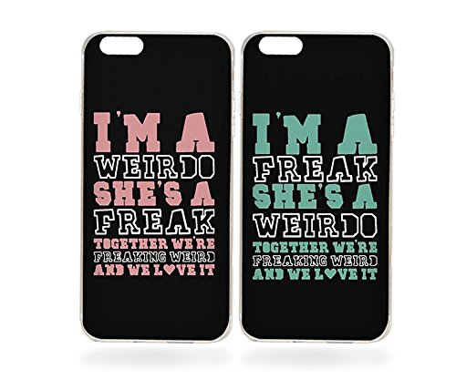 amazon com ttott bff iphone 6s case,weirdo and freak black matching