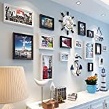 Home@Wall photo frame Solid Wood Frame Photo Wall , Fashion Home Decoration Photo Gallery Frame Set Of Wall With Usable Artwork And Family, Set Of 18 ( Color : B )