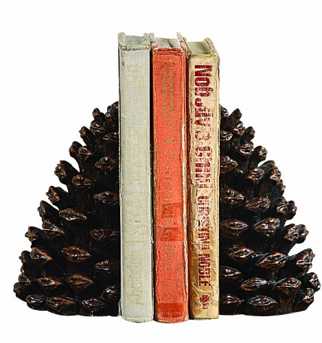 - Creative Co-op Pinecone Shaped Resin (Set of 2 Pieces) Bookends, Bronze