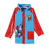 horizon where hope spread Spiderman Boys Portable Cartoon Long Raincoat Rain Poncho Hoods Sleeves S M L XL XXL (XXL)