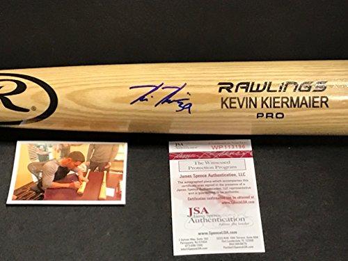 Kevin Kiermaier Tampa Rays Autographed Signed Blonde Baseball Bat JSA WITNESS COA