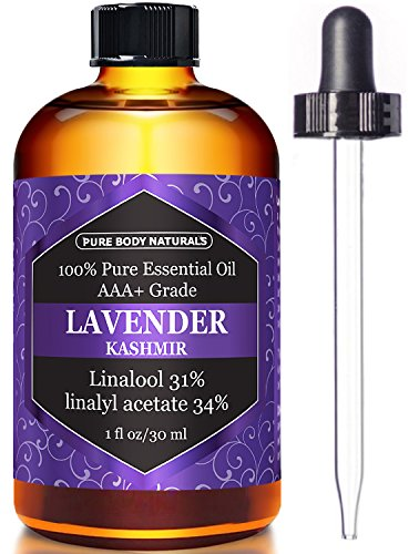 Bulgarian Lavender Essential Oil, 100% Pure, Independently Tested, Therapeutic Grade Lavender Essential Oil for Diffuser Aromatherapy by Pure Body Naturals, 1 Ounce