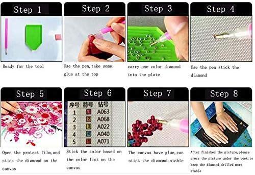 11pcs Set DIY Herramientas de pintura de diamante 5D hechas a mano Set Diamond Stitch Pen DIY Accesorios Diamond Kits de punto de cruz Diamond Stitch Pen Multicolor