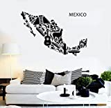 Vinyl Decal Wall Sticker Mexico Mexican Latin American Cool Decor (z1597) XL 45 in X 70 in