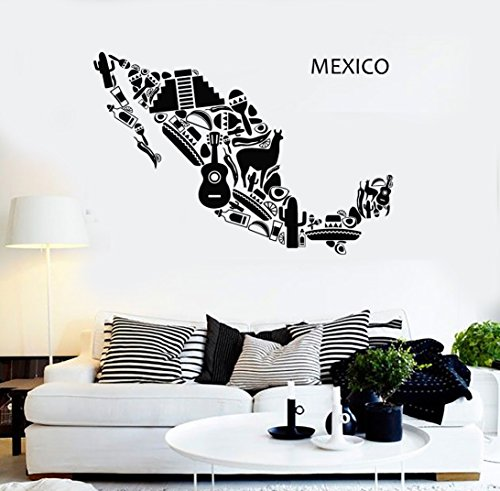Vinyl Decal Wall Sticker Mexico Mexican Latin American Cool Decor (z1597) M 22.5 in X 35 in (Stickers Mexico Wall)