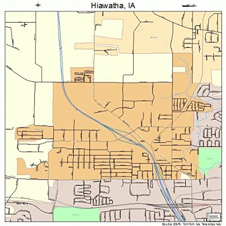 Hiawatha Iowa Map.Amazon Com Large Street Road Map Of Hiawatha Iowa Ia Printed