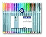 Staedtler Triplus Fineliner 334SB20 Lapiceros, caja de 20 colores