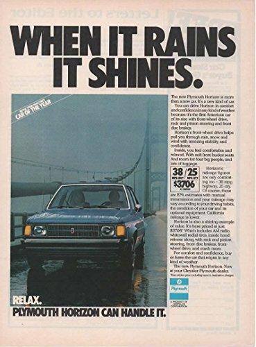 Magazine Print Ad: 1978 Plymouth Horizon, 3706,