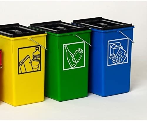 PLASTICOS HELGUEFER - Cubo Ecologico Selectivo 15L con Tapa-Pack 3 ...