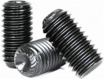 US Made Meets ISO 4029 M5-0.8 Thread Size Hex Socket Drive Small Parts M5006SSC Black Oxide Finish Pack of 100 Cup Point 6 mm Length Alloy Steel Set Screw
