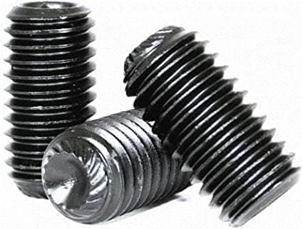 Quantity: 100 Black Oxide Hex Socket 8-32 x 1//4 Knurled Cup Point Socket Set Screw Alloy Steel Coarse Thread 8 Grub//Blind//Allen//Headless Screw Length: 1//4 inch
