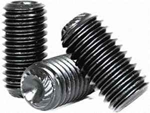 Knurled Cup Point Socket Set Screw Unbrako 45H 5//8 Long 3//8-16 UNC Thread Alloy Steel Black Oxide Pack of 100