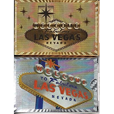 WELCOME TO FABULOUS LAS VEGAS PLAYING CARDS 2 DECK SET (SHINY GOLD & SILVER FOIL): Sports & Outdoors