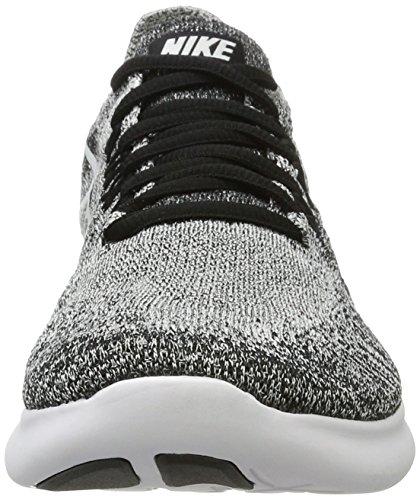 Nike Free Run Kvinder Flyknit 2017 Trail Løbesko Sort (sort / Hvid / Volt 003) 5RMEf