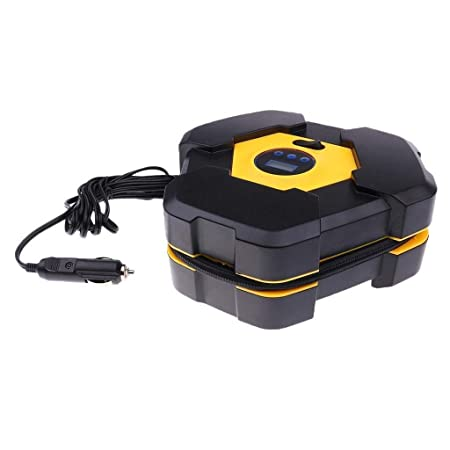 Maharsh Multi-Function 12V Auto Air Compressor Tire Tyre Inflator Pump with Gauge
