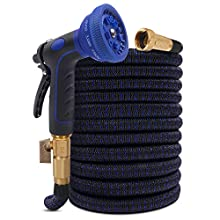 """KAREEME 50FT Expandable Garden Hose Flexible water hose with 3/4"""" brass connector, 10 Spray Nozzle, No-Kink, Lightweight Durable Expanding Hose for Watering Car Pet"""