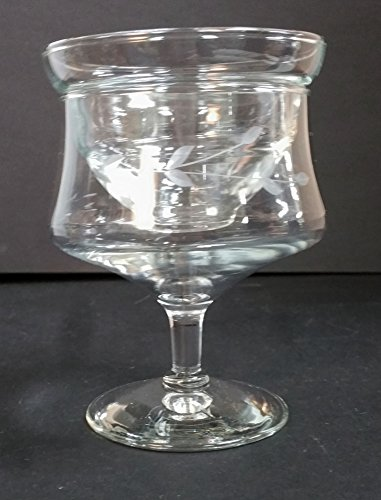 (Vintage Princess House Etched Crystal Shrimp Cocktail Glass)