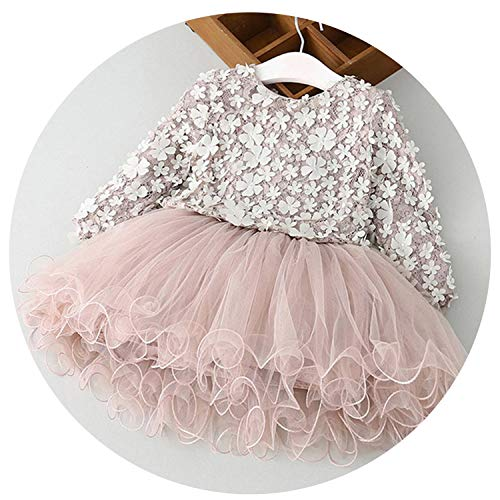 Petals Designs Girl Dress Children Party Kids Formal Eventss Infant Tutu Flower Dress Fluffy Wedding Gown 3 5 7T,As - Sasha Leopard