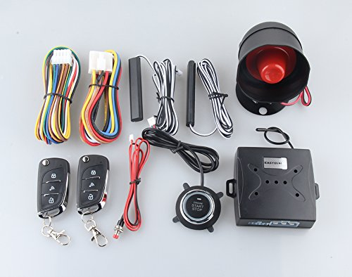 Wiring Diagram For A Car Alarm : Easyguard ec n v car security alarm system pke passive keyless