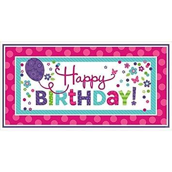 Amscan - Cartel de Feliz Cumpleaños Gigante Fiesta 120172 85 ...