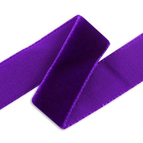 36MM Imported Velvet Ribbon - Purple