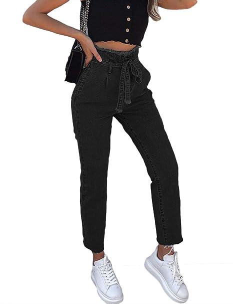 Amazon.com: Sexyshine - Pantalones vaqueros de cintura alta ...