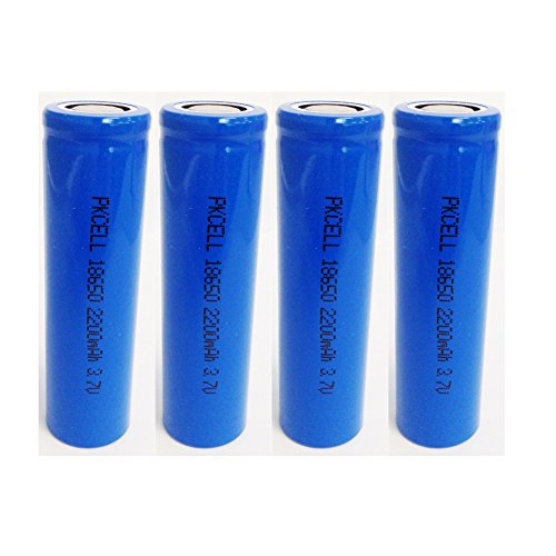 ICR18650 3.7V 2200mah Rechargeable Li-ion Battery With Flat Top (4pc)