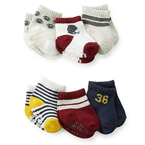 Carter's Baby-Boys Newborn 6 Pack Sport Computer Socks, Multi, 0-3 Months