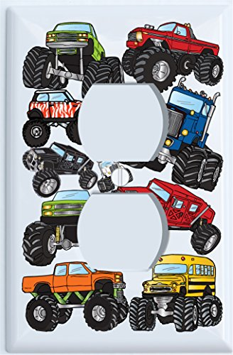 Monster Truck Outlet Switch Plates Cover / Outlet Cover Monster Truck Wall Decor